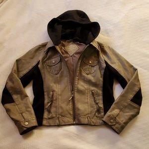 Moto crop jacket